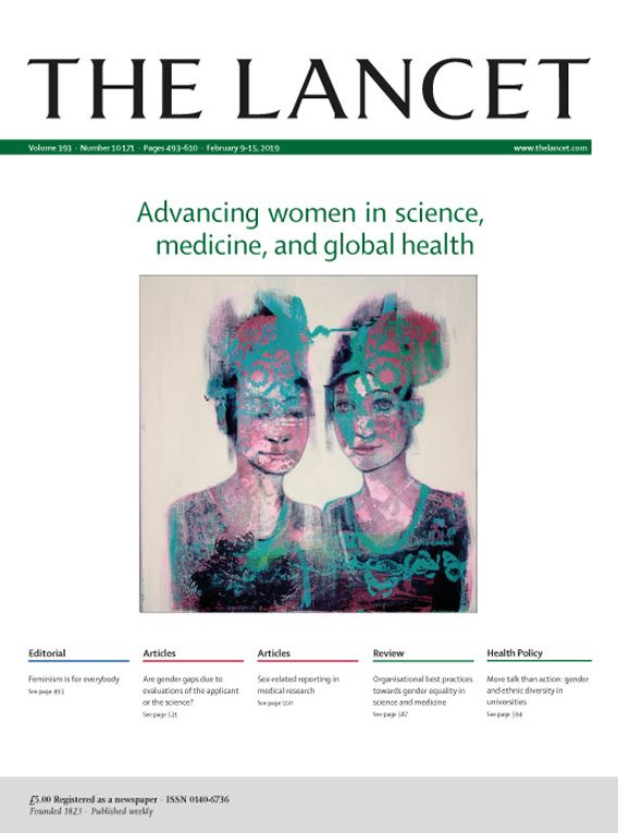 Lancet Cover from Feb 9, 2019
